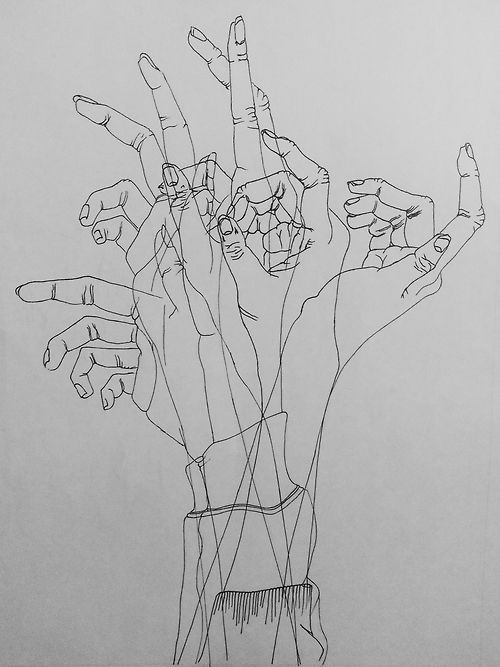 Outstanding contour drawing of a hand. Sweet work.