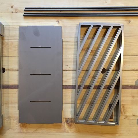 BBQ parts overview! BBQ's are ready for shipping! Link in the bio! #bbq #grill #cooking #steel #metal #gray #shine #lasercut #waterjet #modern #minimal #minimalism #minimalist #digitalmanufacturing #food #grilling