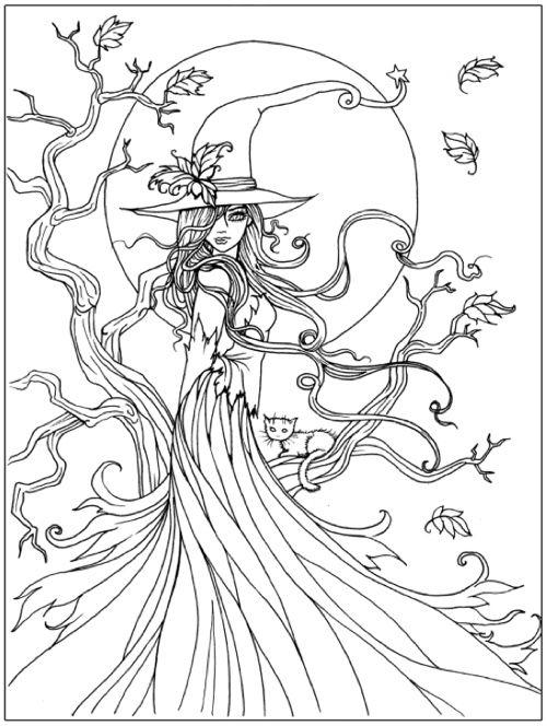detailed halloween coloring pages - photo#8