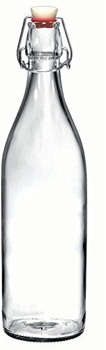 #California #Home #Goods #Giara #Clear #Glass #Bottles with #Stopper, 3.5 x 12-Inch 33.75 #Oz, #Swing #Top #Bottles for #Oil, #Vinegar, #Beverages, #Beer, #Water, #Kombucha, #Kefir, #Soda ELEGANT, STURDY DESIGN: Beautiful #giara #glass #bottles are made of durable transparent #glass built for reuse. The grolsch flip-top #bottles are dishwasher safe and the strong #glass body offers superior resistance to impact and temperature changes. At 33.75 ounces per bottle, you'll have