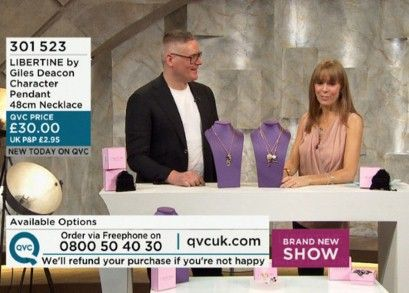 The Daily Telegraph consider, is QVC cool?  have a read and decide for yourself - Giles Deacon live on QVC with Jill Franks