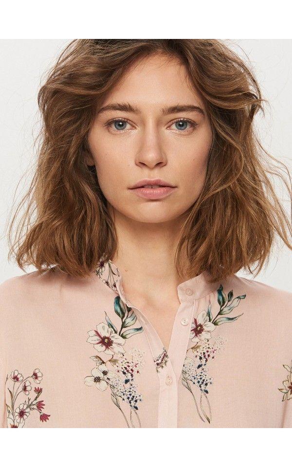 Рубашка с баской, Новинки, розовый, RESERVED
