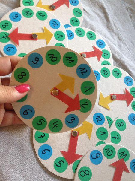 Ich lerne die Uhr lesen - 10er Paket von Lernmittel hausgemacht auf DaWanda.com