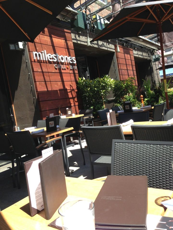 Milestones Grill & Bar | Recommends: Signature Eggs Milestones Benedict with a Tropical Mimosa