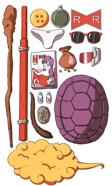 Most of the iconic things from Dragonball and early DBZ