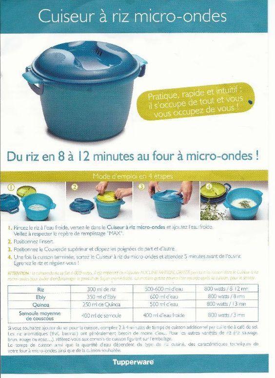 Les 25 meilleures id es de la cat gorie cuiseur riz tupperware sur pinterest - Tupperware cuiseur vapeur ...