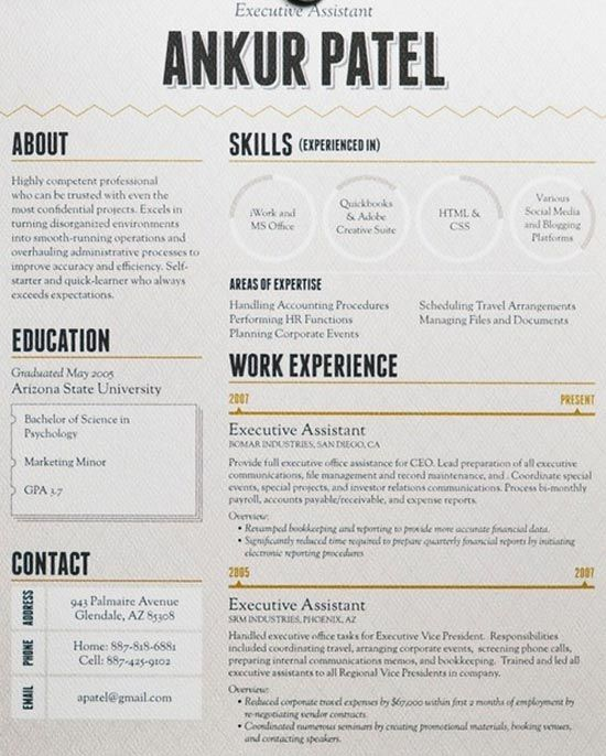 Resumes that stand out
