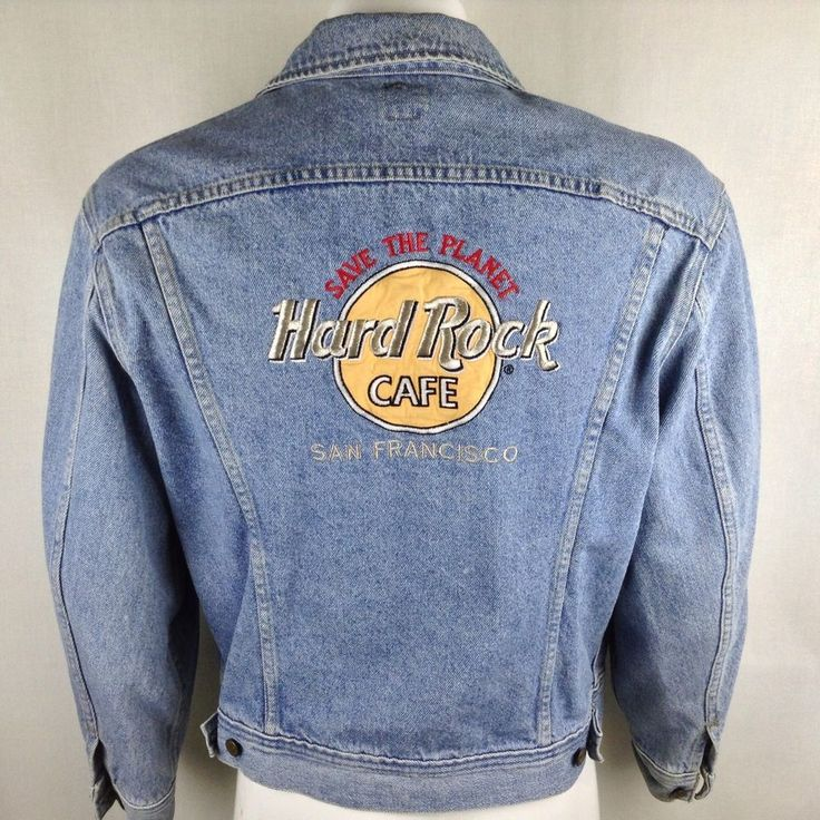 37 best hard rock images on pinterest hard rock guitars and anos 80 medium lee denim jacket hard rock cafe san francisco vintage distressed faded malvernweather Image collections