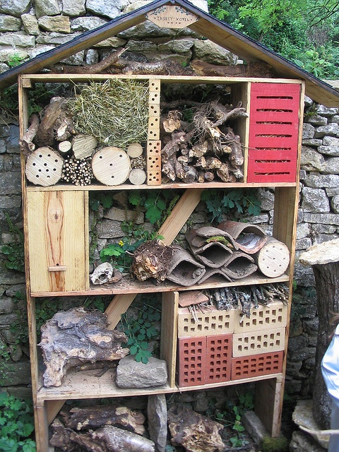this cracks me up - it's an insect hotel