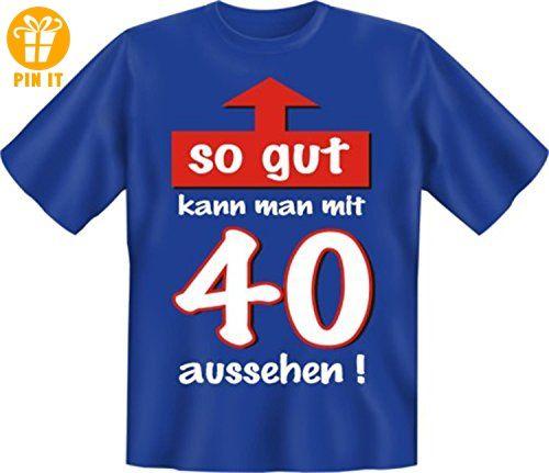 Zum 40. Geburtstag witziges Spr�che Tshirt So gut kann man mit 40 aussehen! Mit Absperrband :) Gr. XL - T-Shirts mit Spruch   Lustige und coole T-Shirts   Funny T-Shirts (*Partner-Link)