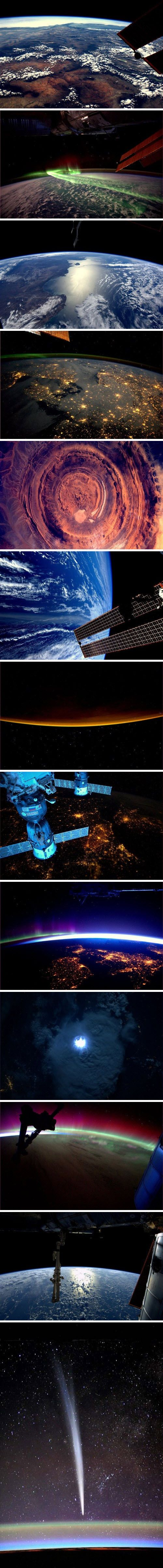 Pictures from space by astronaut Andre Kipersa... LOVE   ... technically, this should go on a board called, the earth, or space, but I don't have one, so the stars it is!