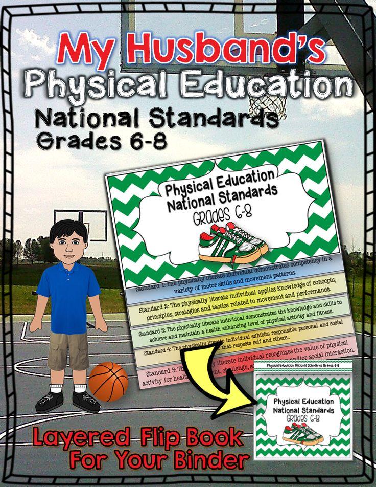 My Husband's Physical Education National Standards Binder Flip Book: Grades 6-8 ($)