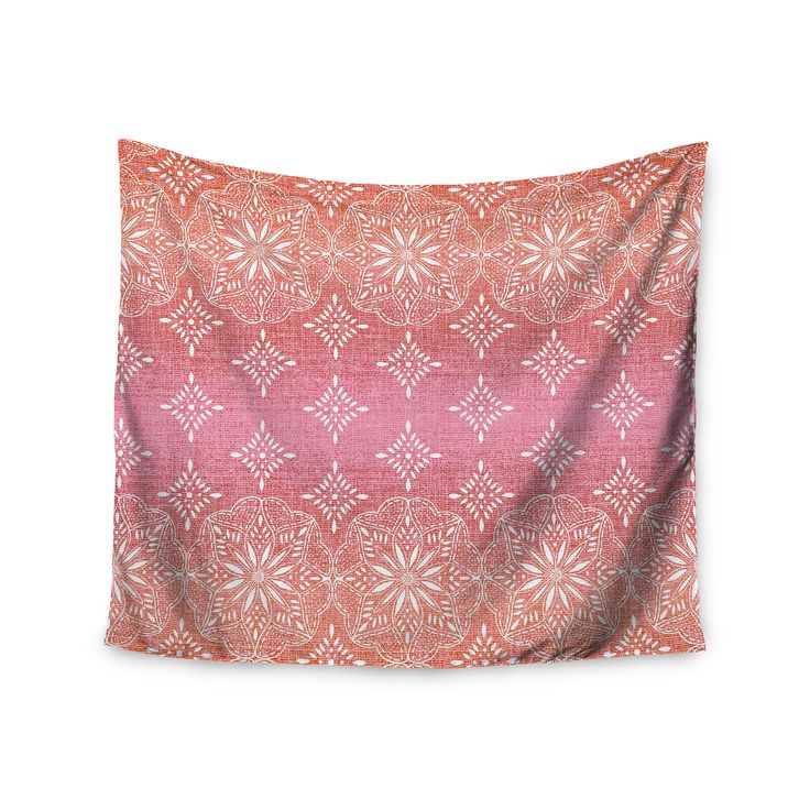 Medallion Red Ombre by Suzie Tremel Wall Tapestry