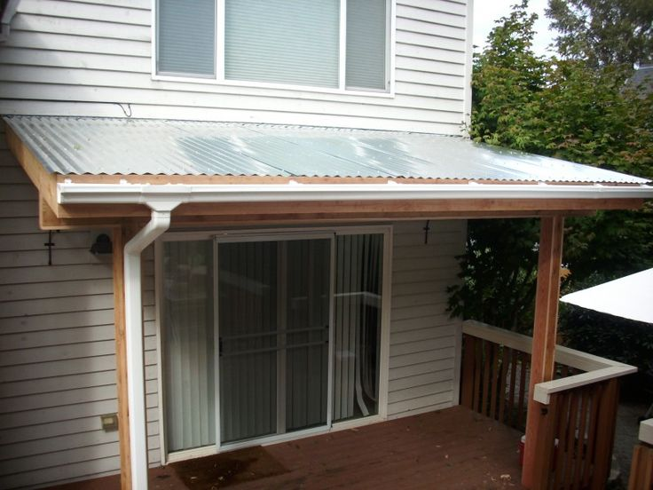 Small Porches And Porch Covers | Corrugated Patio Cover | Deck Masters, Llc