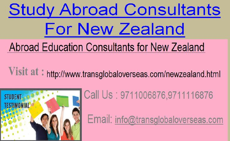 https://flic.kr/p/HBU5BL   Study Abroad consultants for New Zealand   Transglobal Overseas is an Abroad Education Consultants for NZ, Canada, UK has been seen as a tasteful amongst the best nation to the degree beneficial business open portals obliged its general understudies.