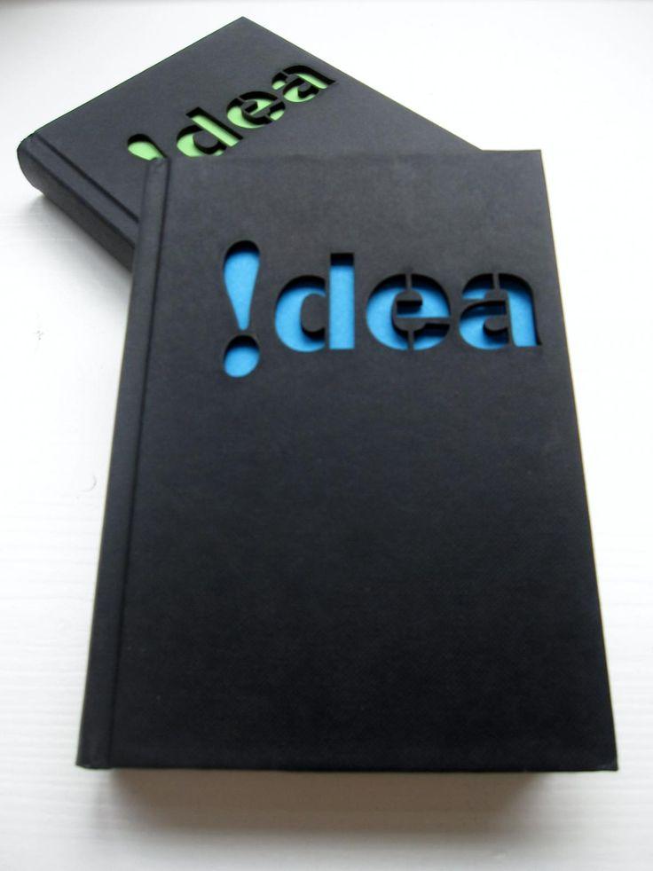 """Notebook 'idea' with a laser cut cover - Libreta """"idea"""" carátula cortada a láser"""