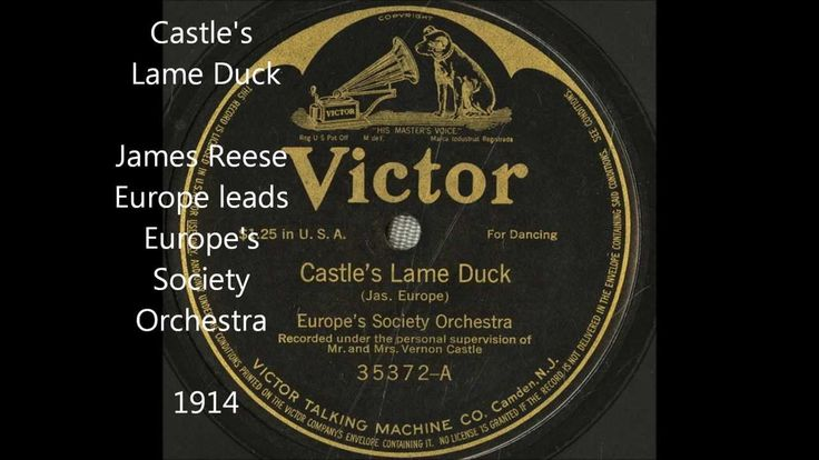 "James Reese Europe ""Castle's Lame Duck"" (""Congratulations Waltz"") Victor..."
