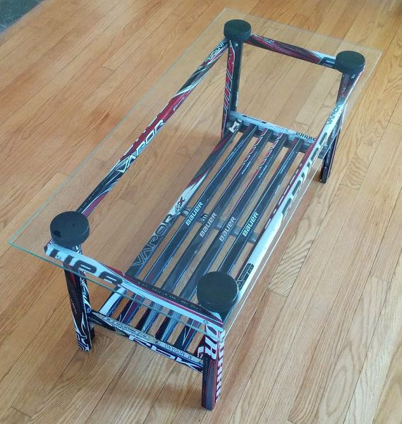 Table basse bâton de hockey par HockeyStickBuilds sur Etsy
