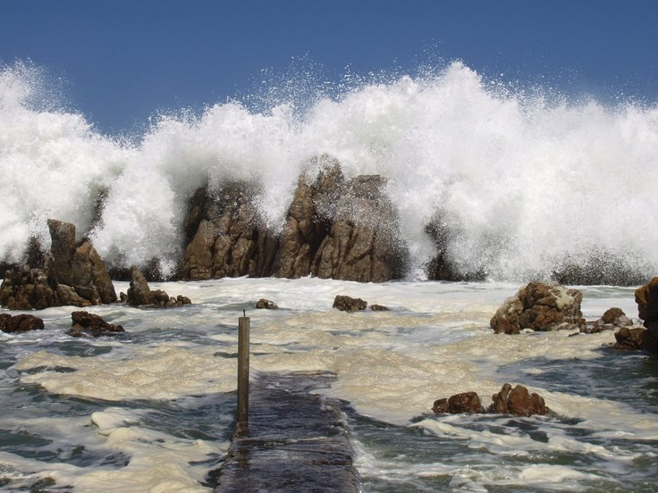 Splash!  Kleinmond, South Africa...