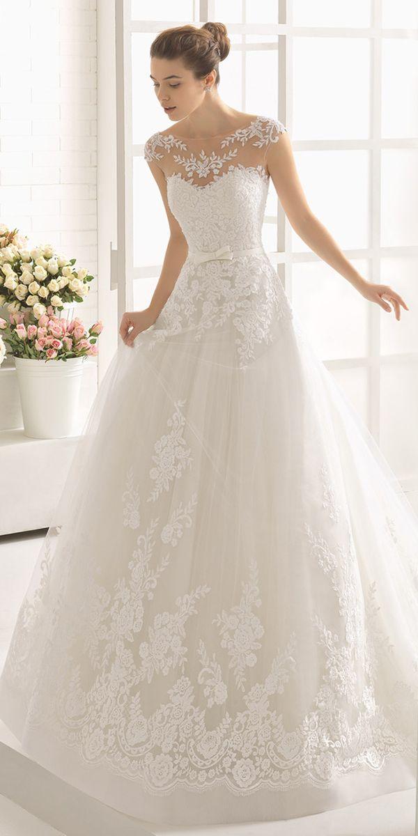 2841 best short sleevedcap sleeved wedding gown inspiration images modest tulle bateau neckline a line wedding dress with lace appliques belt junglespirit Images
