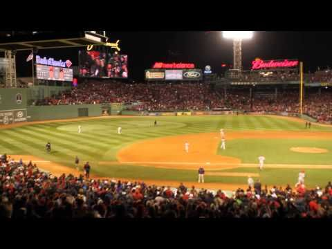 Sweet Caroline at the 2013 World Series - YouTube