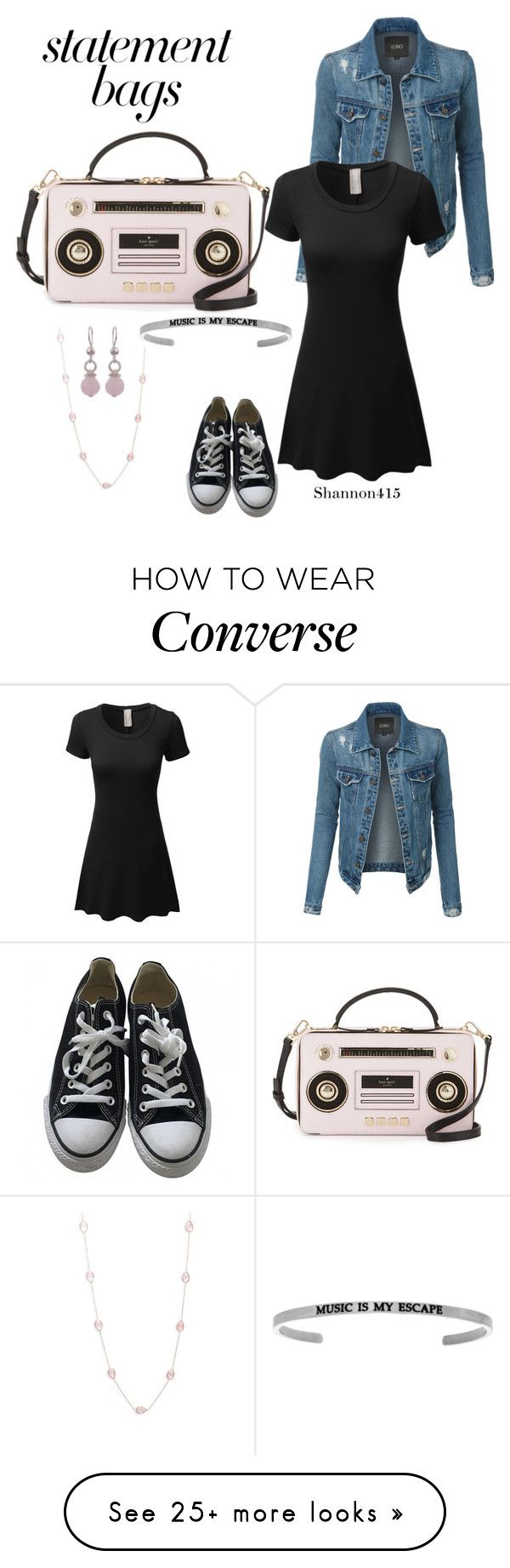 """Statement bags"" by shannon415 on Polyvore featuring Converse, Kate Spade, Saks Fifth Avenue, NOVICA, LE3NO and statementbags"