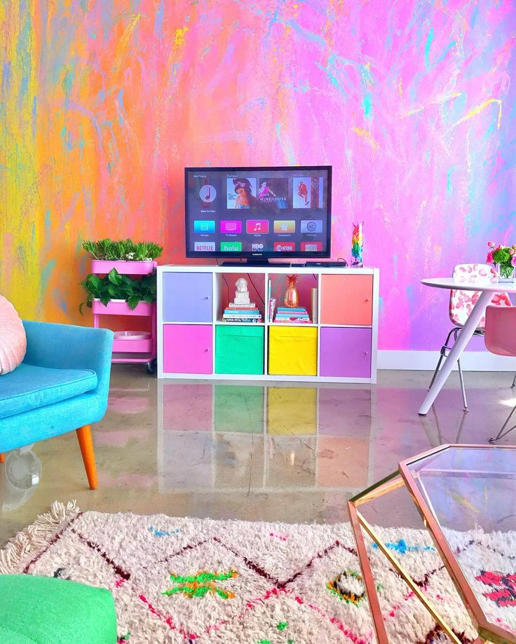 This Rainbow-Inspired Apartment Is Basically the Prettiest Home Ever