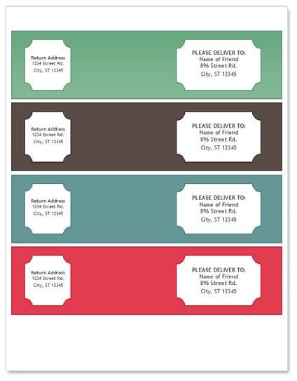 mailing label template for word