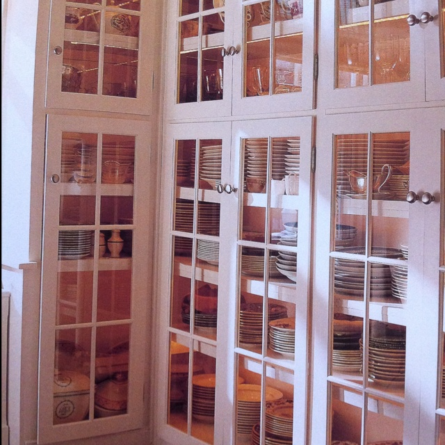 Bunny Williams Floor To Ceiling China Storage Cabinets