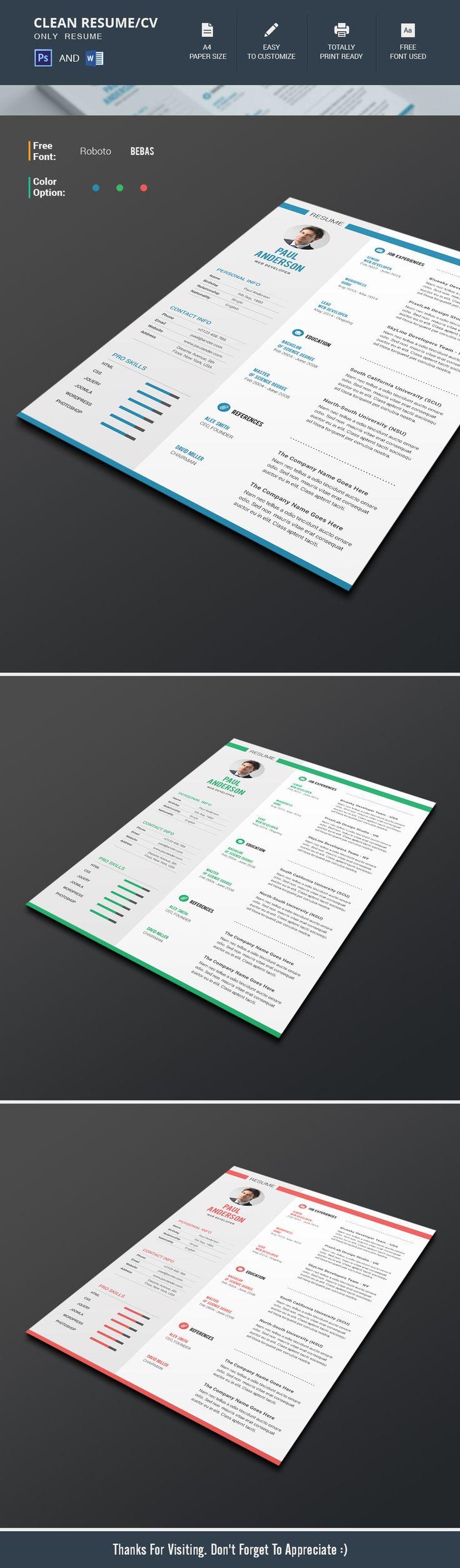 Clean-Resume CV