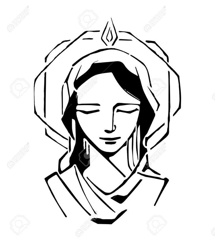 16 mejores imágenes de Virgen María dibujos en Pinterest