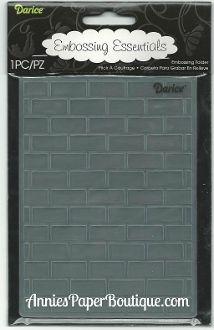 Brick Pattern - Darice Embossing Folder