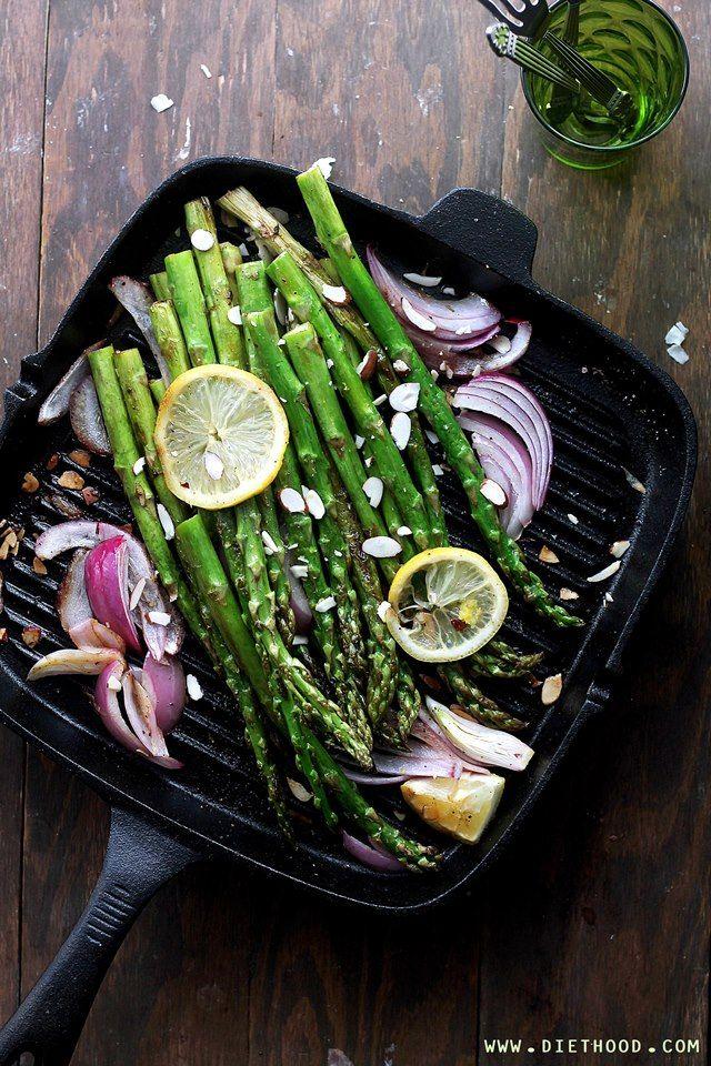 Pan Roasted Asparagus Almondine