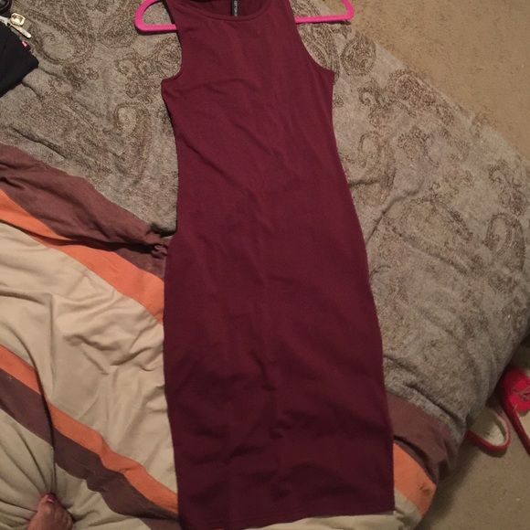 Burgundy Skin Tight Dress Burgundy Skin Tight Dress Dresses Midi