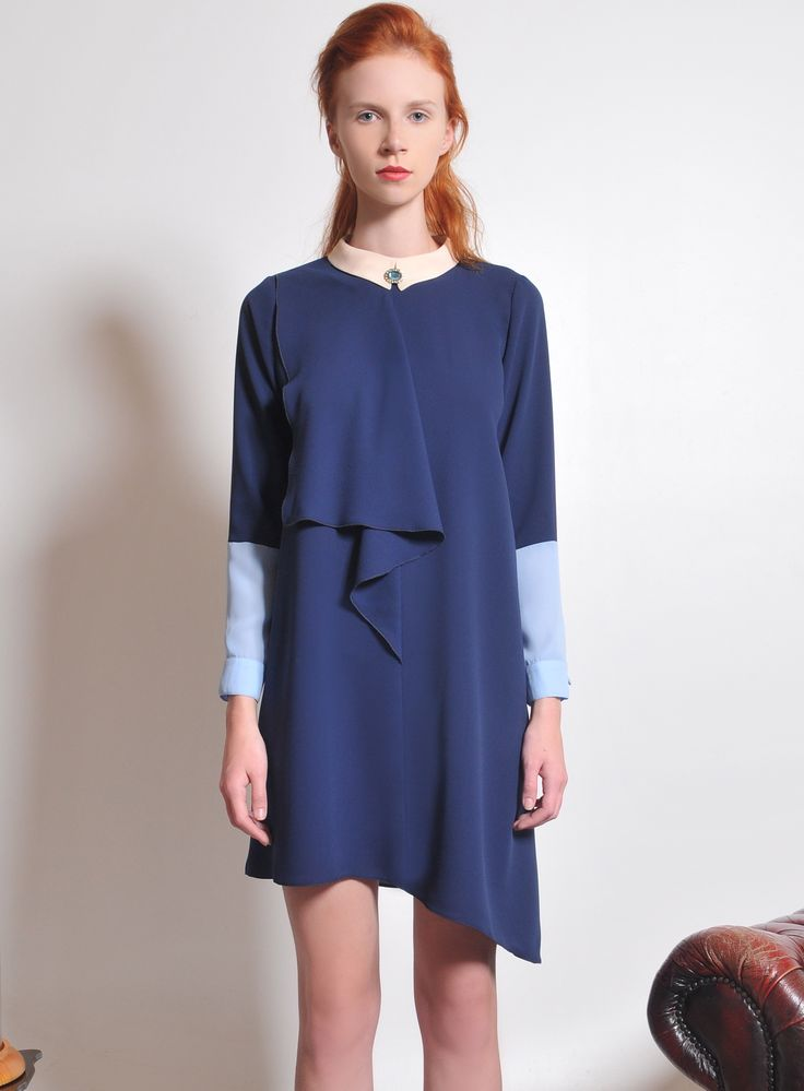 ctrepe dress with jewelled collar from fall 2013