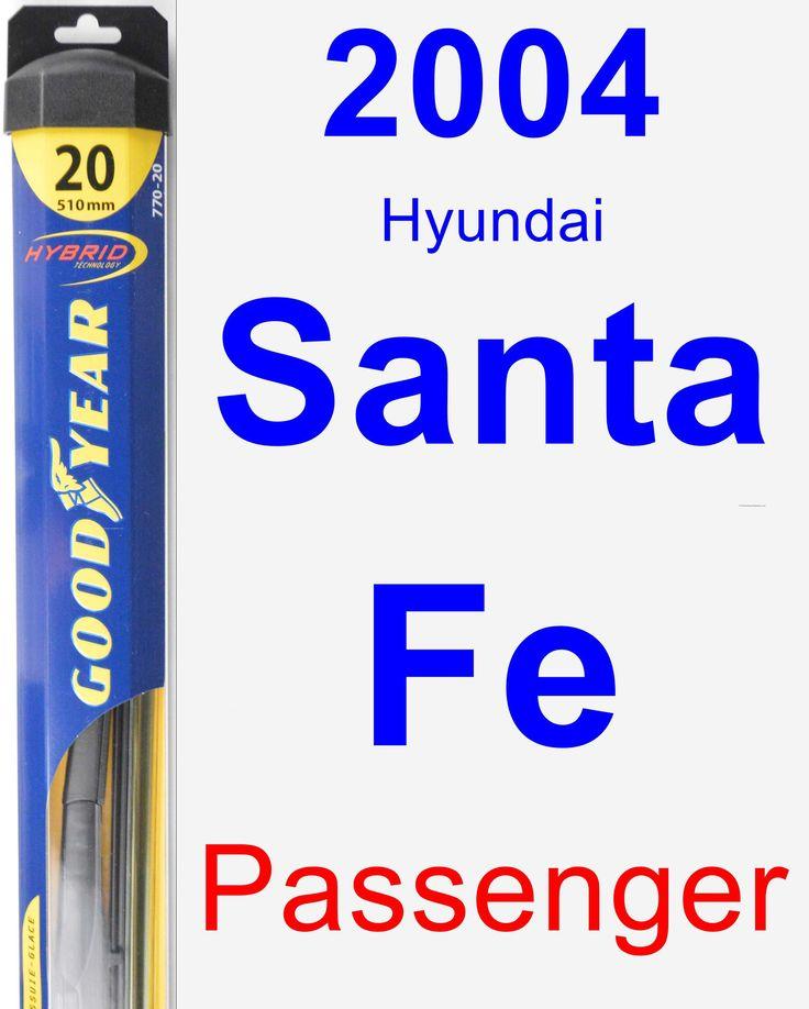 Passenger Wiper Blade for 2004 Hyundai Santa Fe - Hybrid