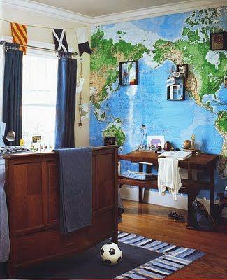 map wallpaper for harper's room