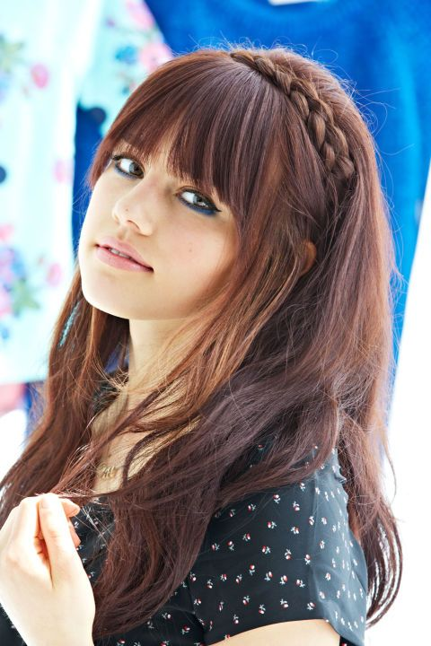 Hairstyle With Bangs long bangs long hairstyle 6 Adorable Hairstyles Every Girl With Bangs Should Know About