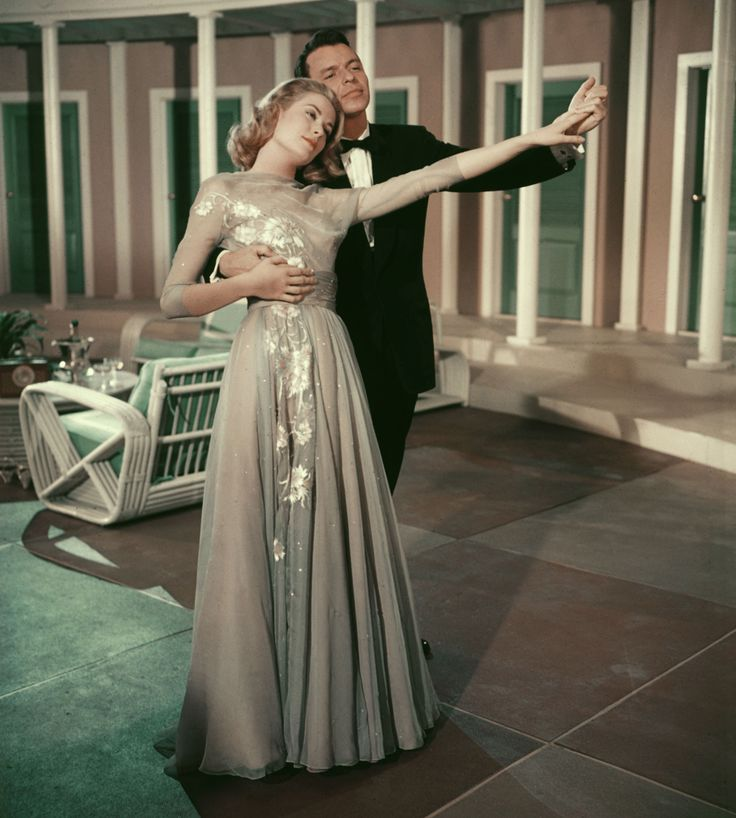 Grace Kelly and Frank Sinatra in High Society, 1956.