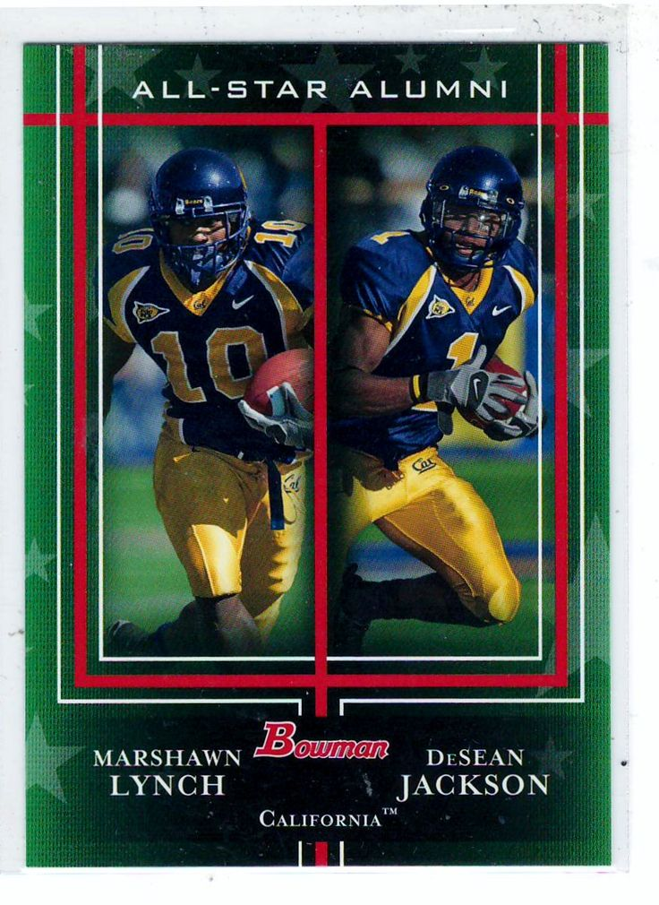 Sports Cards - 2009 Bowman (All-Star Alumni) Marshall Lynch / DeSean Jackson