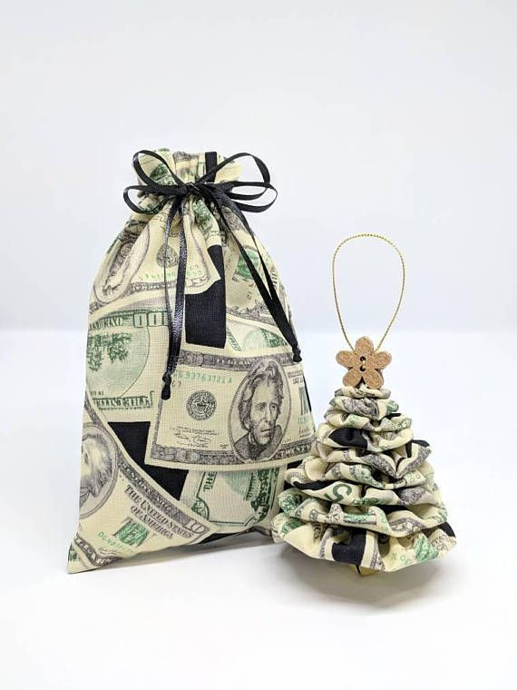 MONEY TREE Unique Christmas Ornament Handmade w Gift Bag