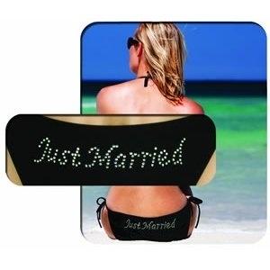 Just Married Bikini - Black £24.99 - The Wedding Gift Company