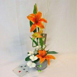 Angers composici n de flores artificiales arreglo floral - Arreglos florales artificiales centros de mesa ...