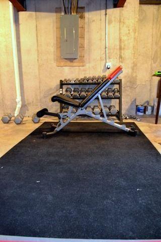 Best 25 cheap home gym ideas on pinterest cheap for Cheap basement flooring