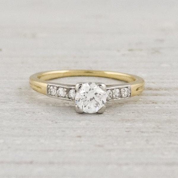 Vintage Tiffany & Co Yellow Gold Diamond Engagement Ring