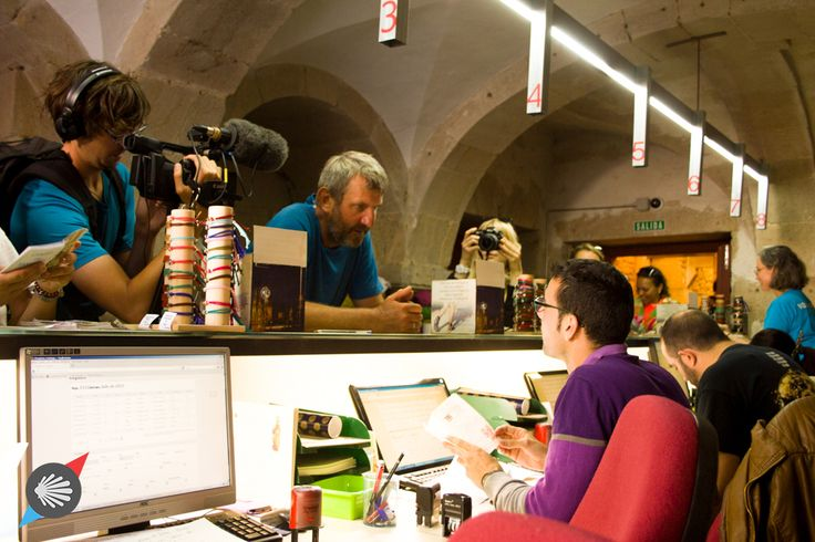 The final moment of recieving the Camino certificates... #CaminodeSantiago #certificate