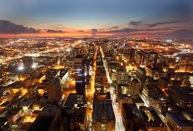 Busy city of Johannesburg