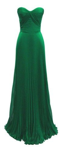 emerald green gown >> I am loving this color recently!
