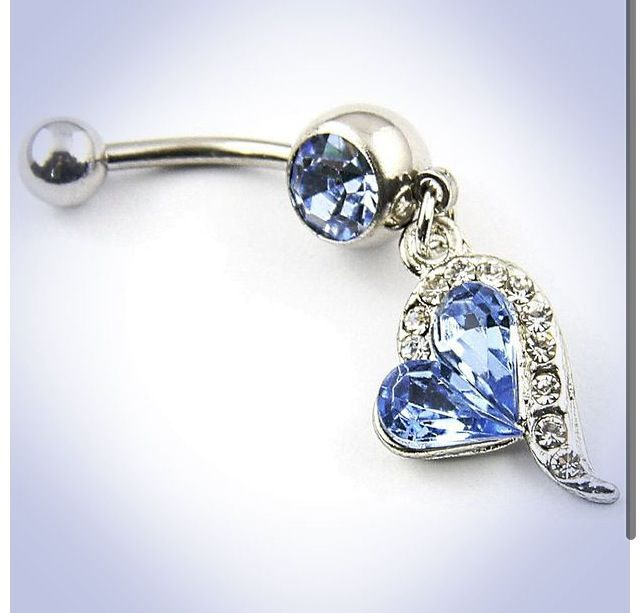 Heart belly button ring