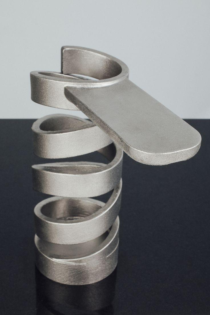 "WATER SCULPTURE GI. DESIGN ""MISTRAL"" in Titanium"